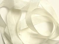 "Woven Edge Rayon Ribbon, 1/2"" - Light Beige THUMBNAIL"