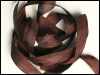 "Woven Edge Rayon Ribbon, 1/2"" - Redwood Brown SWATCH"