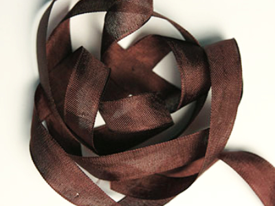 "Woven Edge Rayon Ribbon, 1/2"" - Redwood Brown MAIN"