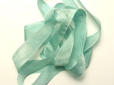 "Woven Edge Rayon Ribbon, 1/2"" - Bay Leaf MAIN"