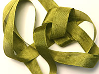 "Woven Edge Rayon Ribbon, 1/2"" - dusty olive THUMBNAIL"