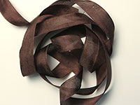 "Woven Edge Rayon Ribbon, 1/2"" - mimi brown THUMBNAIL"