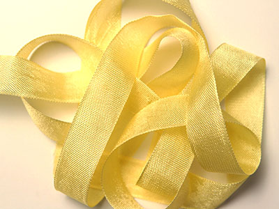 "Woven Edge Rayon Ribbon, 1/2"" - Mimosa MAIN"