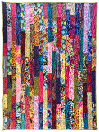 "Kaffe Fassett ""Golden Strips"" Quilt – Double Sided THUMBNAIL"