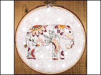 Kids' Thread Embroidered Elephant THUMBNAIL