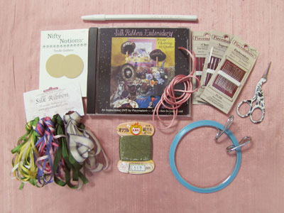 Piecemakers Silk Ribbon Embroidery Kit for Beginners MAIN