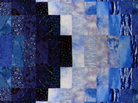 "Bargello Quilt Fabric Kit for Twin Size Quilt 66.5"" x 105""_  Blues THUMBNAIL"