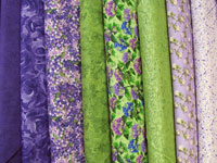 "Bargello Quilt Fabric Kit for Twin Size Quilt 66.5"" x 105"" _ Purple and Green THUMBNAIL"