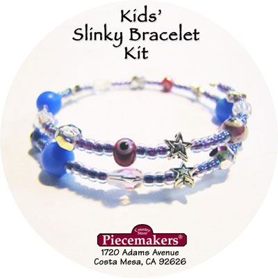 Kids' Slinky Bracelet Kit 2 – Blue, Red and Silver MAIN