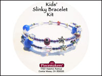 Kids' Slinky Bracelet Kit 2 – Blue, Red and Silver THUMBNAIL