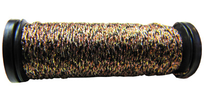 Kreinik #8 Braid - 071 Black/Gold/Copper MAIN