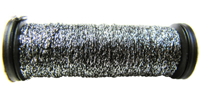 Kreinik #8 Braid - 019 Silver/Black MAIN