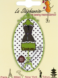 Dress Form Appliqué by La Stéphanoise - #15860 col. 003 - Green THUMBNAIL