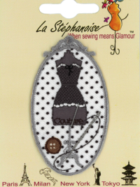 Dress Form Appliqué by La Stéphanoise - #15860 col. 005 - Gray THUMBNAIL
