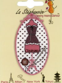 Dress Form Appliqué by La Stéphanoise - #15860 col. 001 - Pink THUMBNAIL