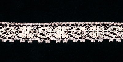 "3/4"" Wide Decorative Lace Trim – Peach MAIN"