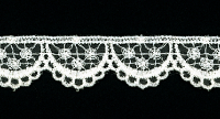 "7/8"" Wide Scalloped Lace Trim – Cream THUMBNAIL"