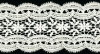 "2 5/8"" Wide Scalloped Edge Lace Trim – Cream THUMBNAIL"