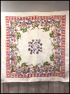 Vintage Large Tablecloth with Floral and Geometric Designs SWATCH