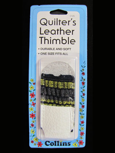 Quilter's Leather Thimble MAIN