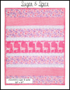 """Sugar & Spice"" Bambino Minky Strip Quilt Kit SWATCH"