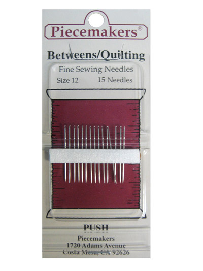 Piecemakers Betweens/Quilting Needles Size 12 MAIN