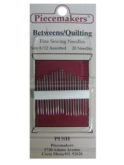 Piecemakers Betweens/Quilting Needles Size 8/12 Assorted MAIN