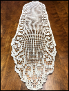 Vintage Long Crocheted Doily Runner with Swirl Border SWATCH