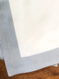Vintage Napkins – White with Blue-Gray Border THUMBNAIL