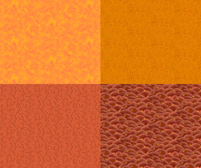 "QT Fabrics ""His Majesty - The Tree"" # 27564-O Orange - Orange Fat Quarter Panel MAIN"