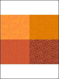 "QT Fabrics ""His Majesty - The Tree"" # 27564-O Orange - Orange Fat Quarter Panel THUMBNAIL"