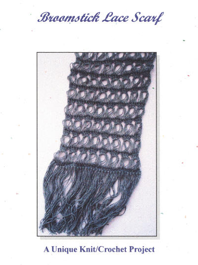 Broomstick Lace Scarf – A Unique Knit/Crochet Project by Sheilah Cleary MAIN