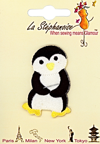Dancing Penguin #1 Appliqué by La Stéphanoise - # 15741 col. 002 MAIN