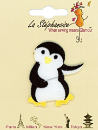 Dancing Penguin #2 Appliqué by La Stéphanoise - # 15741 col. 004 THUMBNAIL