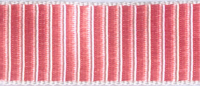 Pink/Cream Reversible Ridged Woven Trim - # HD-20 col. 21 MAIN
