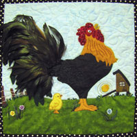 Cock-a-doodle-do Pattern THUMBNAIL
