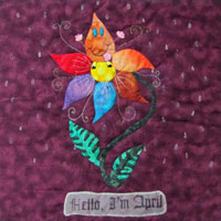 """Hello, I'm April"" Pattern THUMBNAIL"