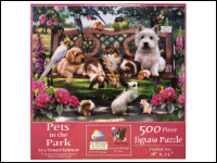 """Pets in the Park"" Suns Out Puzzle THUMBNAIL"