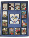 "Piecemakers 2004 Calendar Quilt (Revised) — ""God So Loved the World"" SWATCH"