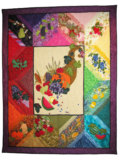 "Piecemakers 2014 Calendar Quilt — ""A Fruitful Harvest"" MAIN"