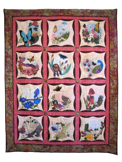 "Piecemakers 2016 Calendar Quilt — ""Fly Away with Me"" MAIN"