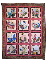 "Piecemakers 2016 Calendar Quilt — ""Fly Away with Me"" THUMBNAIL"