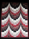 Bargello Wallhanging – Black, White & Red SWATCH