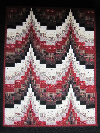 Bargello Wallhanging – Black, White & Red THUMBNAIL