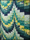 Bargello Quilt – Teal & Green SWATCH