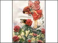 Embroidered Red Clover Fairy THUMBNAIL
