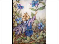 Embroidered Periwinkle Fairy THUMBNAIL