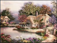 Swan Cottage Embroidery THUMBNAIL