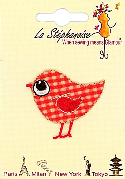 Red Bird Appliqué by La Stéphanoise - # 15420 col. 002 MAIN