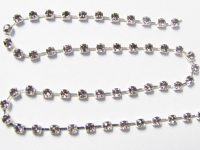 2mm Rhinestone Chain – Smoky Crystal Set In Silver THUMBNAIL